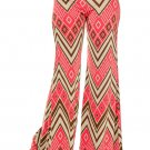 1x Printed Wide Leg Pants