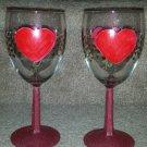 Valentine Wine Glass Set