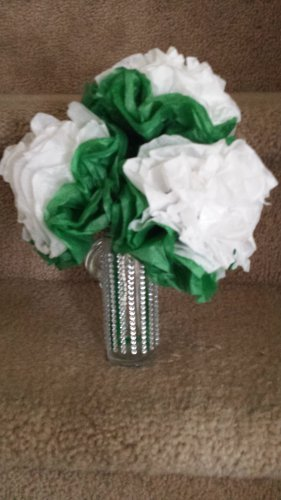 St. Patrick's Tissue Flower Arrangement