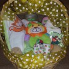 Yellow Polka Dot Neutral Baby Basket