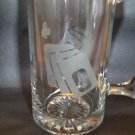 Poker Etched Stein