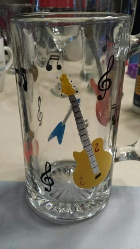 Fun Father's Day Guitar Glass Stein