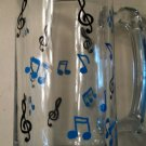 Music Note Glass Stein