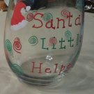 Santa's Little Helper Stemless Glass