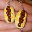 Delicious Steak Sub Charm Earrings Clay Charms Sandwich Miniature