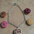 Donut Lover Charm Bracelet Food Charms Clay Bracelets Donut