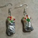 Miniature Chicken Wrap Charm Earrings Food Clay Charms Wires Food Charms Earring