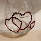 Stemless Rhinestone Heart Wine Glass Holiday Wine Glassware Barware Glass Gifts
