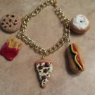 Popular Snack Food Charm Bracelet Food Jewelry Bracelet Clay Charms Unique