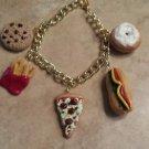 Popular Snack Food Charm Bracelet Food Jewelry Bracelet Clay Charms Unique