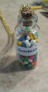 Gumball Bottle Pendant Necklace Candy Jewelry Kids Bottle Pendants Necklaces