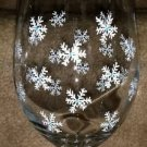 Beautiful Hand Painted Snowflake Goblet Barware Winter Snowflake Wine Gifts