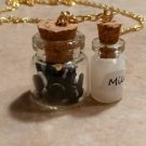 Miniature Chocolate Sandwich Cookies/Milk Necklace Food Kids Cookies Goldtone