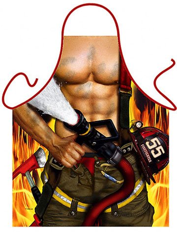 Fire Fighter Fireman Funny Mens Apron