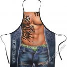 Tattoo  Man Apron Sexy Flirty Funny Kitchen BBQ Novelty Apron For Men