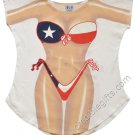 Texas Bikini Cover-Up T-Shirt Plus size Sexy Flirty Funny Silly Crazy Summer Fun