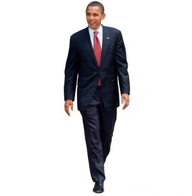 Barack Obama Cutout Standup President White House Politician Life Like Cardboard Poster
