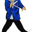 Elvis Presley Pendulum Blue Suit Wall Clock Swinging Legs and Hips