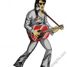 Elvis Presley Pendulum Grey Suit Wall Clock Swinging Legs and Hips