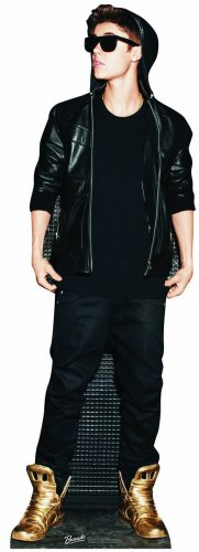 Justin Bieber Gold Shoes Lifesize Standup Poster (takes 15 days to ship)