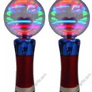 """MAGIC SPINNING LIGHT- UP WAND CRAZY FLASHING DISCO BALL PARTY TOY 7.5"""" (2-PACK)"""