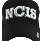 NCIS Black Hat White Embroidered Snapback with Adjustable Velcro Strap
