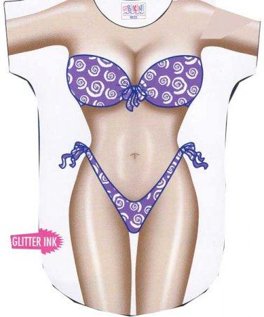 Purple Sparkel  Bikini  Cover-Up T-shirt  REG    SIZE T-Shirt Sexy Flirty Silly Crazy Summer Fun