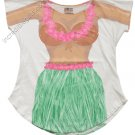 Hula Girl Cover up T-Shirt  PLUS   SIZE T-Shirt Sexy Flirty Silly Crazy Summer Fun
