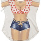 Canadian Cover-Up T-Shirt  REG  SIZE T-Shirt Sexy Flirty Silly Crazy Summer Fun