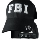 FBI  Black Hat White Embroidered Snapback with Adjustable Velcro Strap