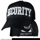 SECURITY  Black Hat White Embroidered Snapback with Adjustable Velcro Strap