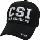 CSI Los Angeles  Black Hat White Embroidered Snapback with Adjustable Velcro Strap
