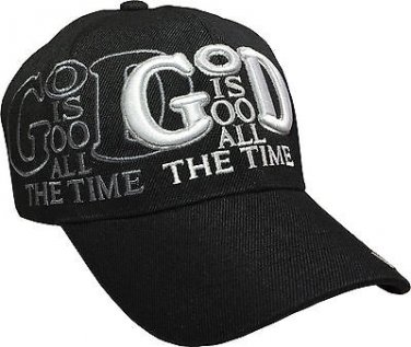 God is Good All the time Embroidered Snapback with Adjustable Velcro Strap
