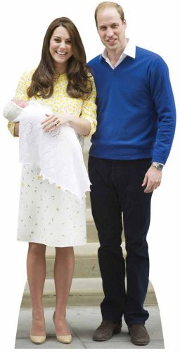The Royals Baby Charlotte, Prince William, Kate Middleton Cutout The Royals