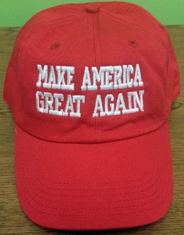 Donald Trump hat Make America Great Again red hat , white  embroidered