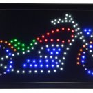 "Motorcycle  LED  light Sign 10"" x 19"""