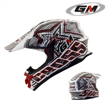 Helmets GM Super Cross Startic Red