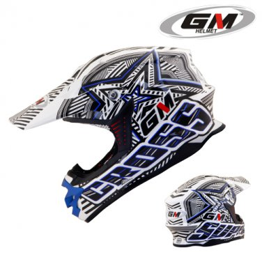Helmets GM Super Cross Startic Blue