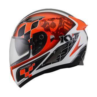 Helmets KYT Vendetta Race White Orange Fluo