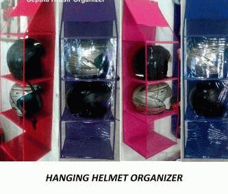 Hanging Helmets Organizer