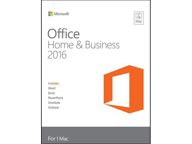 Microsoft Office Home and Business Edition 2016 for Mac - Full Version