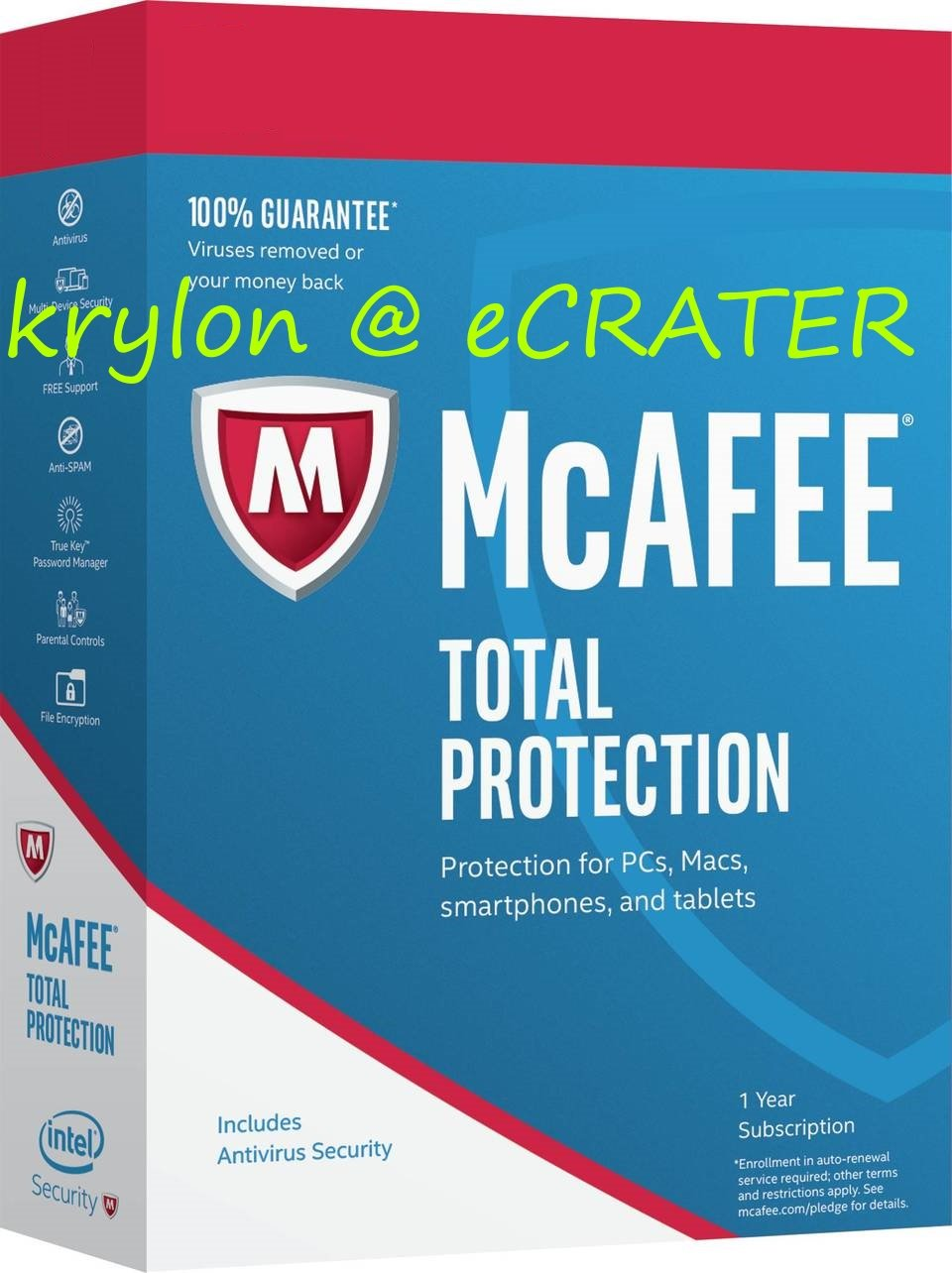 McAfee Total Protection 2017 - Unlimited PCs / Devices - 1 Year Full Version Product Key Download