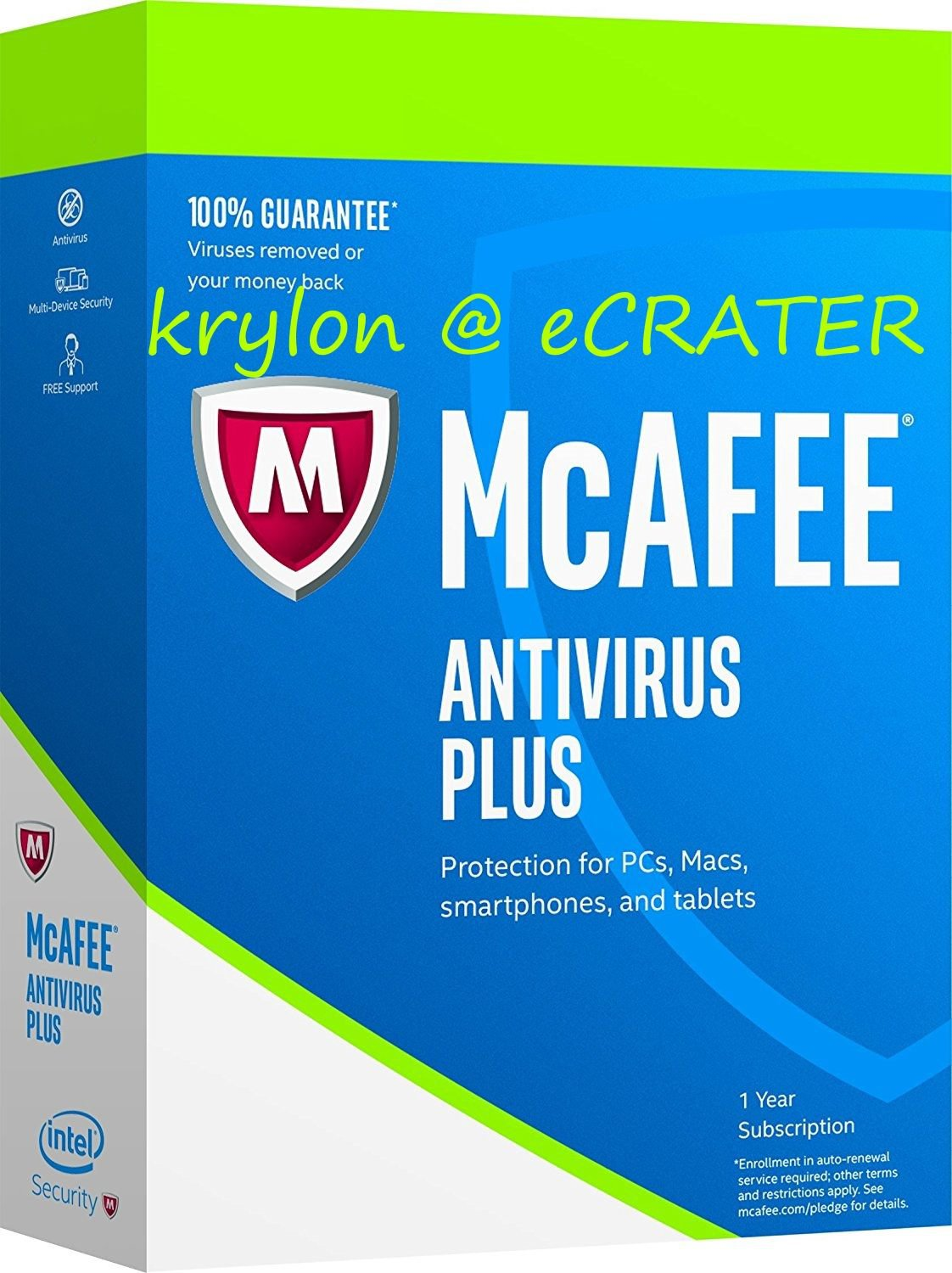 McAfee AntiVirus Plus 2017 - Unlimited PCs / Devices - Full Version Product Key Download