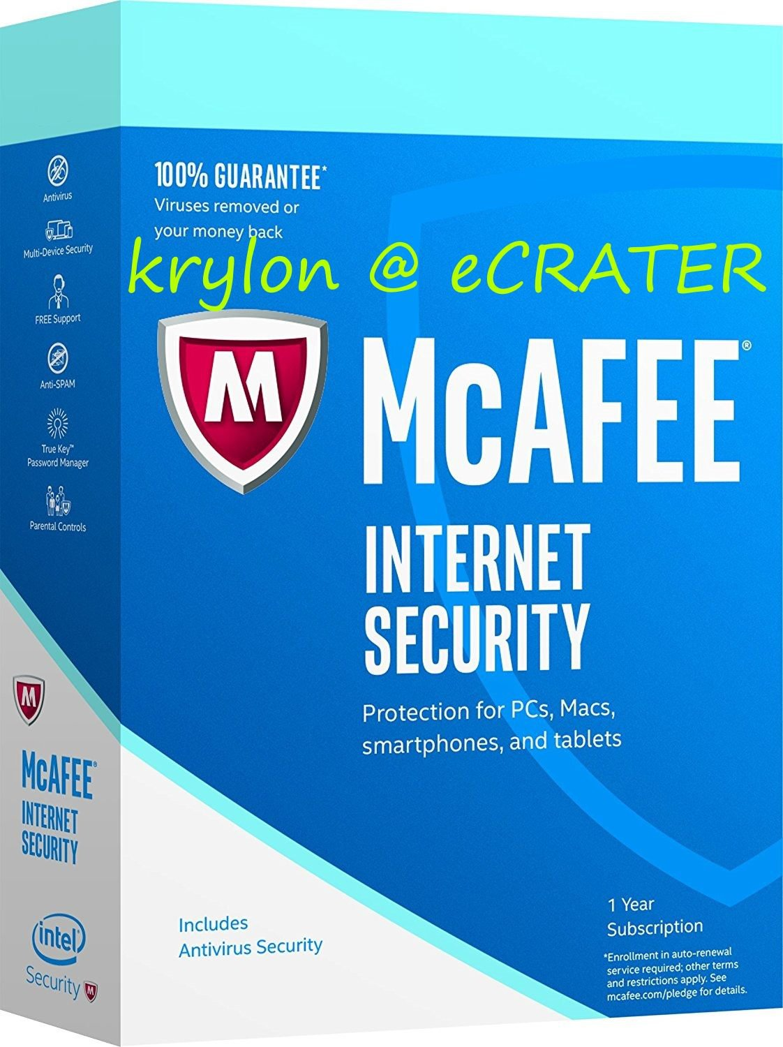 McAfee Internet Security 2017 - Unlimited PCs / Devices - Full Version Product Key Download
