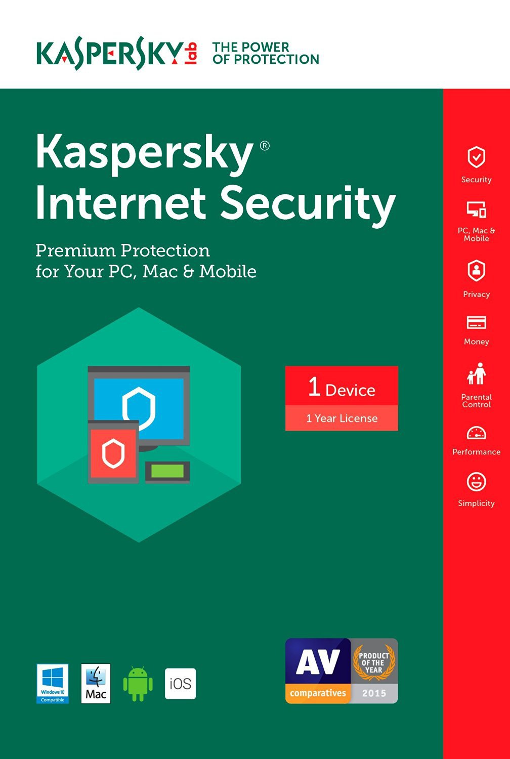 [Region Locked] Kaspersky Internet Security 2017 1 PC Device 1 Year Product Key Download