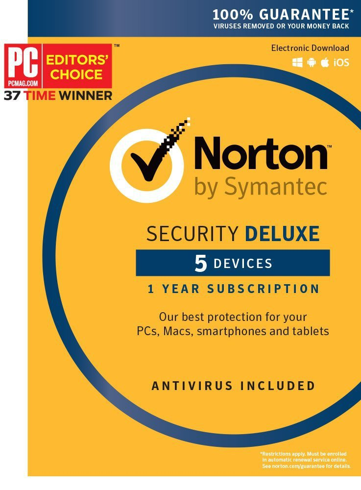 [Region Locked] Norton Security Deluxe 2016 5 PC Devicess 1 Year Product Key Digital Download