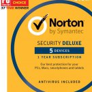 [Region Locked] Norton Security Deluxe 2018 for 5 PC Devices 1 Year Product Key Digital Download