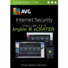 AVG Internet Security 2017 - Unlimited Devices - 1 Year - Digital Product Key