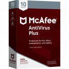 McAfee Antivirus 2018 - 10 PCs / Devices - 1 Year Full Version Product Key Download