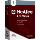 McAfee Antivirus 2018 - 1 PC / Device - 1 Year Full Version Product Key Download